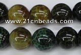 CAG4835 15 inches 14mm round dragon veins agate beads wholesale