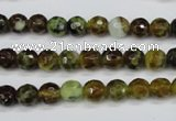CAG4841 15 inches 6mm faceted round dragon veins agate beads