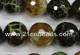 CAG4847 15 inches 18mm faceted round dragon veins agate beads