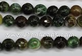 CAG4852 15 inches 8mm faceted round dragon veins agate beads