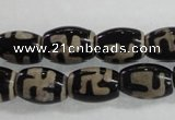 CAG5080 15.5 inches 8*12mm drum tibetan agate beads wholesale