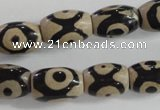 CAG5090 15.5 inches 8*12mm drum tibetan agate beads wholesale