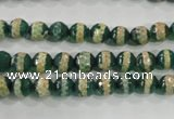 CAG5136 15 inches 6mm faceted round tibetan agate beads wholesale