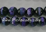 CAG5148 15 inches 10mm faceted round tibetan agate beads wholesale
