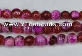 CAG5181 15 inches 6mm faceted round fire crackle agate beads