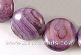 CAG525 15 inches 12mm coin purple crazy lace agate beads wholesale