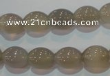 CAG5256 15.5 inches 10*12mm rice Brazilian grey agate beads