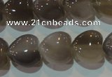 CAG5263 15.5 inches 16*16mm heart Brazilian grey agate beads