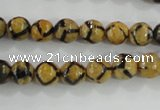 CAG5343 15.5 inches 8mm faceted round tibetan agate beads wholesale