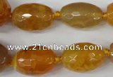 CAG5406 10*14mm � 20*30mm faceted drum dragon veins agate beads