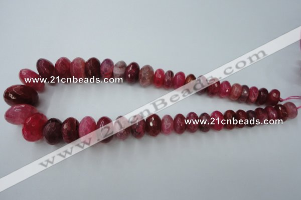 CAG5415 8*12mm � 13*22mm faceted rondelle dragon veins agate beads