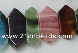 CAG5450 15.5 inches 10*20mm - 12*48mm freeform agate gemstone beads