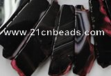 CAG5461 15.5 inches 16*26mm - 20*66mm freeform agate gemstone beads