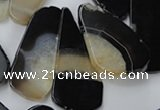 CAG5469 15.5 inches 25*35mm - 30*60mm freeform agate gemstone beads