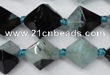 CAG5498 15.5 inches 18*18mm faceted bicone agate gemstone beads