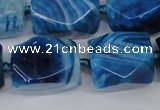 CAG5511 15.5 inches 16*17*22mm faceted nuggets agate beads