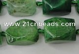 CAG5512 15.5 inches 16*17*22mm faceted nuggets agate beads
