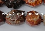 CAG5517 15.5 inches 18*22mm faceted nuggets agate gemstone beads