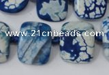 CAG5521 15.5 inches 17*20mm nuggets agate gemstone beads