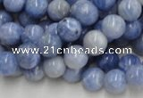 CAG553 16 inches 10mm round blue agate gemstone beads wholesale