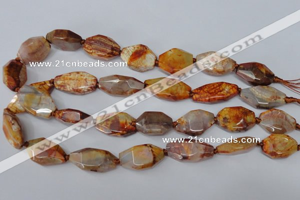 CAG5532 15.5 inches 15*22mm - 15*30mm freeform agate gemstone beads