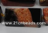 CAG5542 15.5 inches 15*15*40mm cuboid agate druzy geode beads