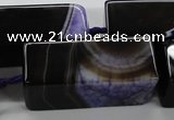 CAG5548 15.5 inches 15*15*40mm cuboid agate druzy geode beads