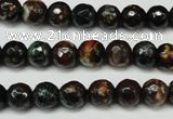 CAG5692 15 inches 8mm faceted round fire crackle agate beads