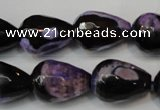 CAG5729 15 inches 13*18mm faceted teardrop fire crackle agate beads