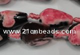 CAG5741 15 inches 15*20mm faceted teardrop fire crackle agate beads