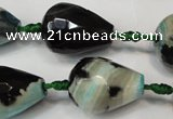 CAG5744 15 inches 15*20mm faceted teardrop fire crackle agate beads