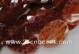 CAG577 15.5 inches 22*30mm faceted oval natural fire agate beads