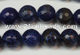 CAG5835 15 inches 12mm faceted round fire crackle agate beads