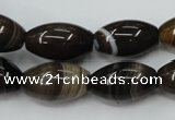 CAG5913 15 inches 12*20mm rice Madagascar agate gemstone beads