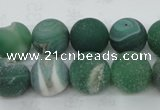 CAG5930 15 inches 16mm round matte druzy agate beads wholesale