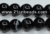 CAG5945 15.5 inches 10mm round black line agate beads wholesale