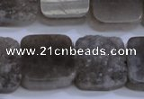 CAG5987 15.5 inches 20*20mm square grey agate gemstone beads