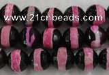 CAG6156 15 inches 10mm faceted round tibetan agate gemstone beads
