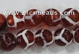 CAG6200 15 inches 8mm faceted round tibetan agate gemstone beads