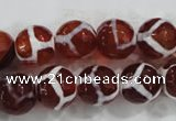 CAG6202 15 inches 12mm faceted round tibetan agate gemstone beads