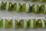 CAG6360 15 inches 12mm faceted round tibetan agate gemstone beads