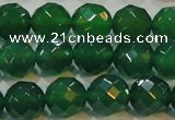 CAG6615 15.5 inches 12mm faceted round green agate gemstone beads