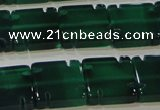 CAG6637 15.5 inches 12*12mm square green agate gemstone beads