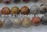 CAG6670 15.5 inches 4mm round natrual crazy lace agate beads