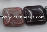 CAG6781 15.5 inches 18*18mm square Indian agate beads wholesale
