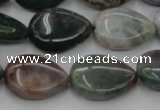 CAG6803 15.5 inches 13*18mm flat teardrop Indian agate beads