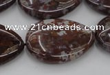 CAG6808 15.5 inches 22*30mm flat teardrop Indian agate beads