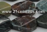 CAG6818 15.5 inches 18*25mm faceted & twisted octagon Indian agate beads