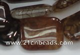 CAG690 15.5 inches 22*30mm rectangle dragon veins agate beads
