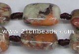 CAG7031 15.5 inches 15*20mm rectangle ocean agate gemstone beads
